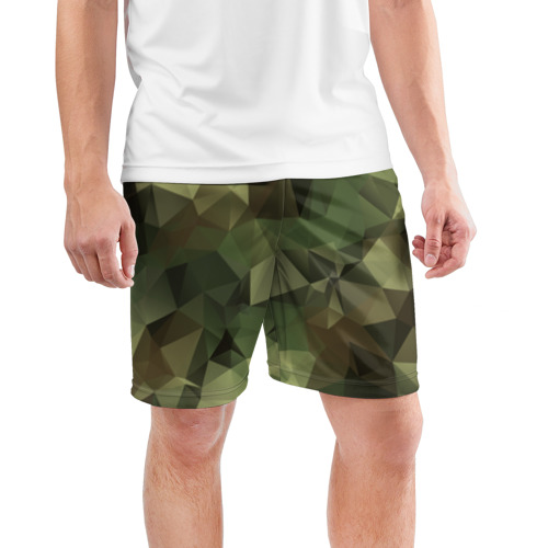 Мужские шорты спортивные Камуфляж Фото 01