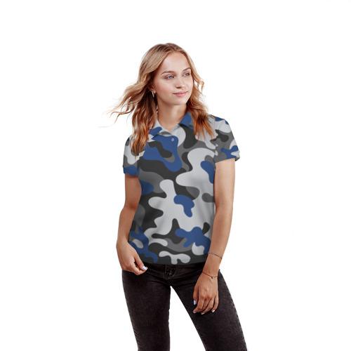 Женская рубашка поло 3D  Фото 03, Камуфляж