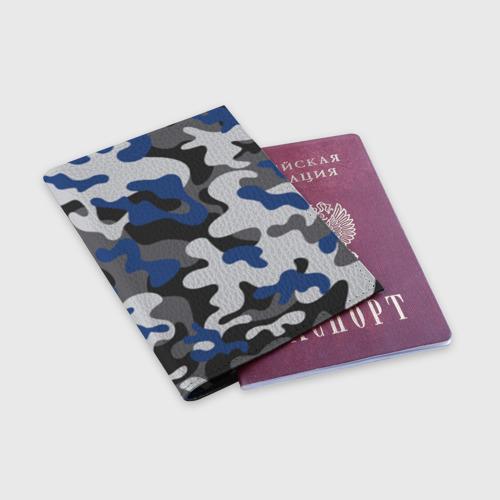 Обложка для паспорта матовая кожа Камуфляж Фото 01