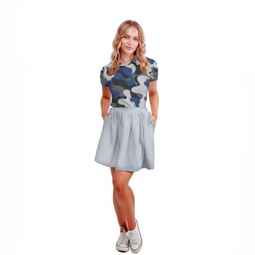Женская рубашка поло 3D  Фото 04, Камуфляж