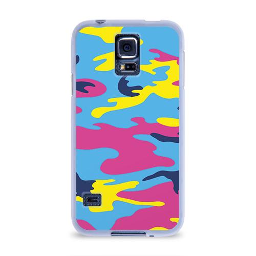 Чехол для Samsung Galaxy S5 силиконовый  Фото 01, Камуфляж