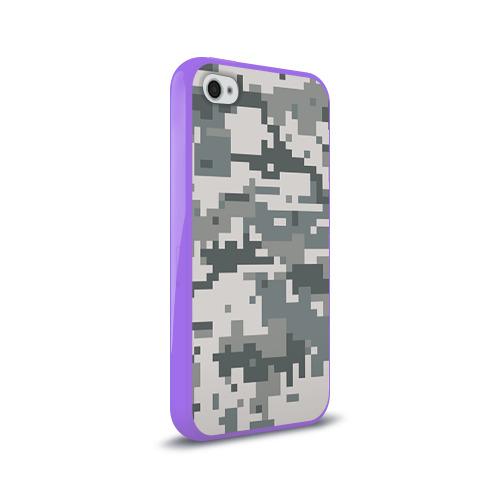 Чехол для Apple iPhone 4/4S силиконовый глянцевый  Фото 02, Камуфляж