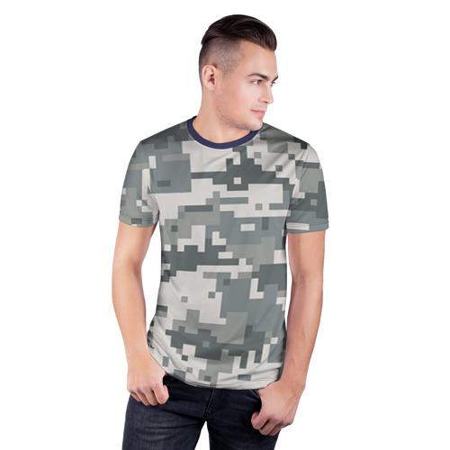 Мужская футболка 3D спортивная Камуфляж Фото 01