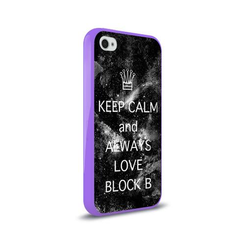 Чехол для Apple iPhone 4/4S силиконовый глянцевый  Фото 02, Block b