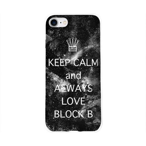 Чехол для Apple iPhone 8 силиконовый глянцевый  Фото 01, Block b