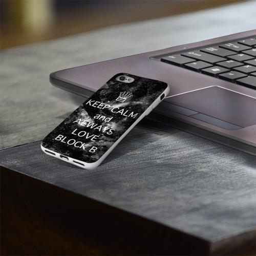Чехол для Apple iPhone 8 силиконовый глянцевый  Фото 03, Block b