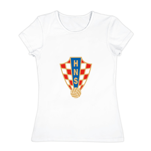 Женская футболка хлопок Сборная Хорватии