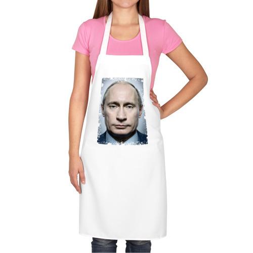 Фартук белый  Фото 02, Путин (retro style)