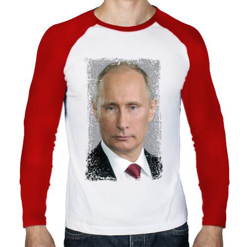 Мужской лонгслив реглан  Фото 01, Путин (retro style)