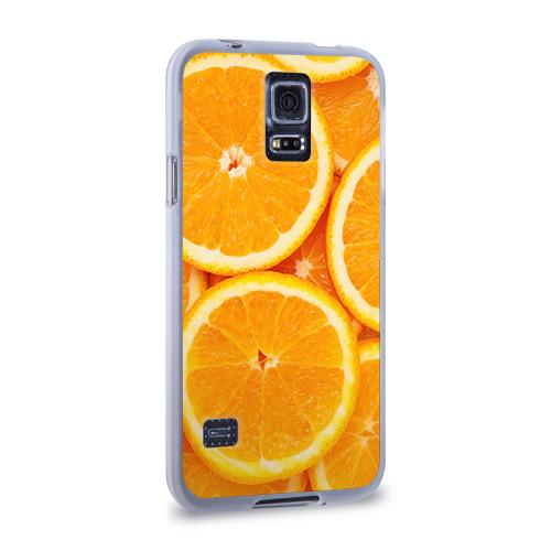 Чехол для Samsung Galaxy S5 силиконовый  Фото 02, Апельсин