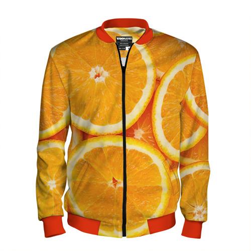 Мужской бомбер 3D Апельсин