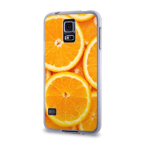 Чехол для Samsung Galaxy S5 силиконовый  Фото 03, Апельсин