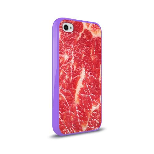 Чехол для Apple iPhone 4/4S силиконовый глянцевый  Фото 02, Мясо