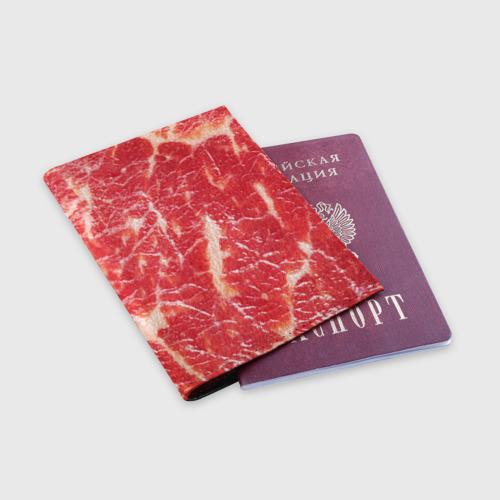 Обложка для паспорта матовая кожа  Фото 03, Мясо