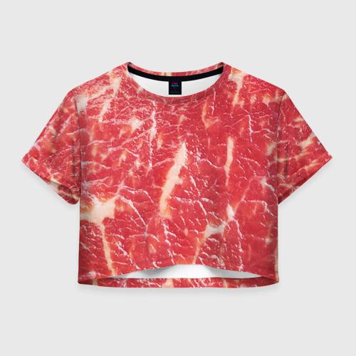 Женская футболка Cropp-top Мясо
