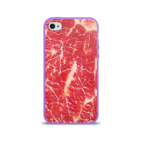 Чехол для Apple iPhone 4/4S силиконовый глянцевый  Фото 01, Мясо