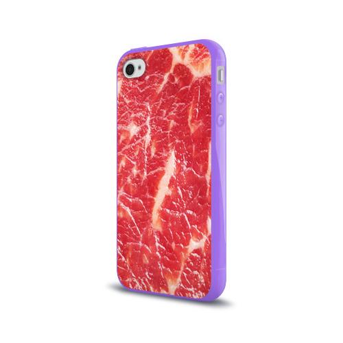 Чехол для Apple iPhone 4/4S силиконовый глянцевый  Фото 03, Мясо