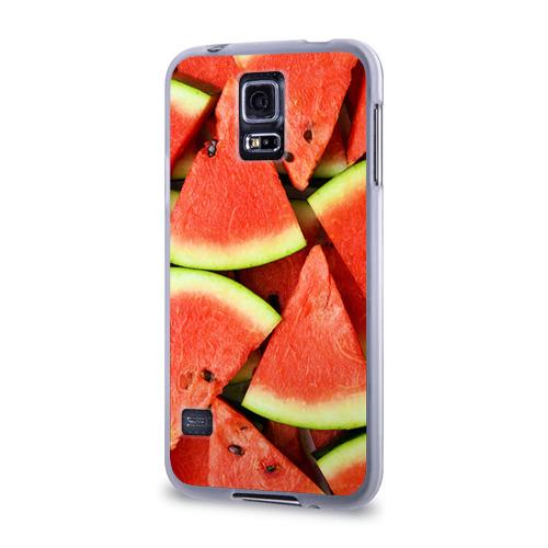 Чехол для Samsung Galaxy S5 силиконовый  Фото 03, Дольки арбуза