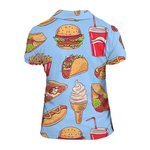 Женская рубашка поло 3D  Фото 02, Еда