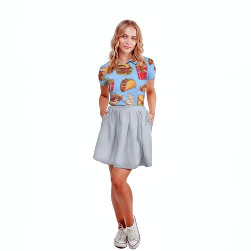 Женская рубашка поло 3D  Фото 04, Еда