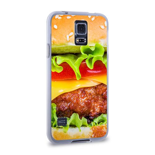 Чехол для Samsung Galaxy S5 силиконовый  Фото 02, Гамбургер