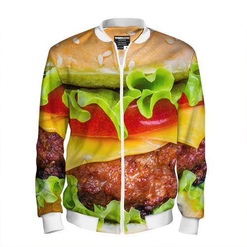 Мужской бомбер 3D Гамбургер