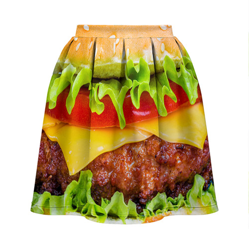 Юбка-солнце 3D  Фото 02, Гамбургер
