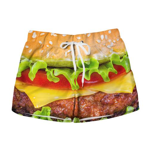 Женские шорты 3D Гамбургер