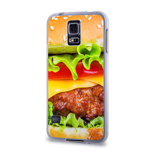 Чехол для Samsung Galaxy S5 силиконовый  Фото 03, Гамбургер