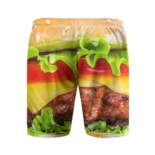 Мужские шорты 3D спортивные  Фото 02, Гамбургер
