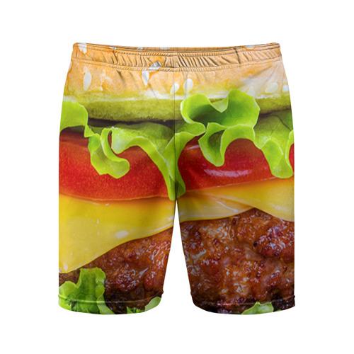 Мужские шорты 3D спортивные  Фото 01, Гамбургер