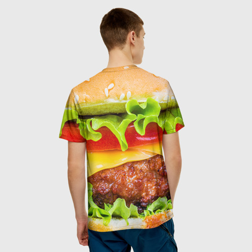 Мужская футболка 3D  Фото 02, Гамбургер