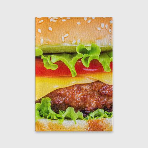 Обложка для паспорта матовая кожа Гамбургер Фото 01