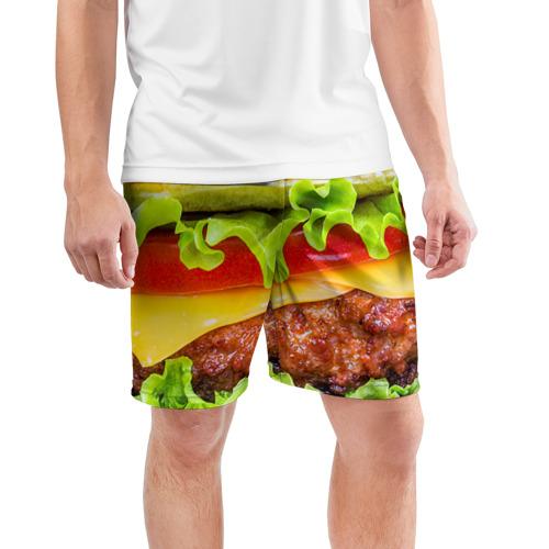 Мужские шорты 3D спортивные  Фото 03, Гамбургер