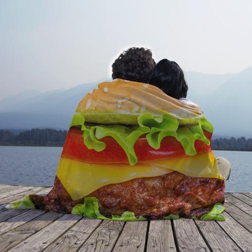 Плед 3D Гамбургер Фото 01