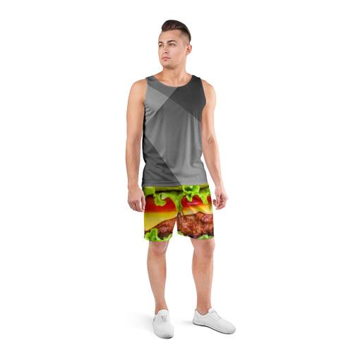 Мужские шорты 3D спортивные  Фото 04, Гамбургер