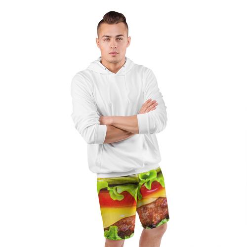 Мужские шорты 3D спортивные  Фото 05, Гамбургер