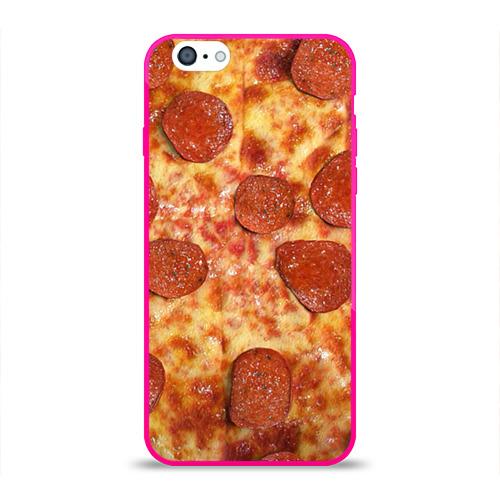 Чехол для Apple iPhone 6 силиконовый глянцевый  Фото 01, Пицца