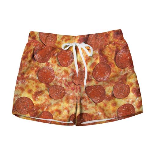 Женские шорты 3D Пицца