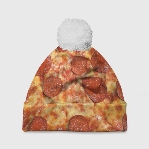 Шапка 3D c помпоном  Фото 01, Пицца
