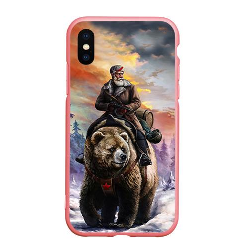 Чехол для iPhone XS Max матовый Медведь Фото 01