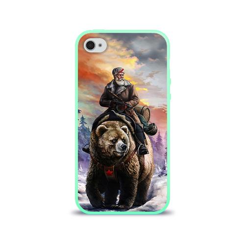 """Чехол силиконовый глянцевый для Apple iPhone 4S """"Медведь"""" (3) - 1"""