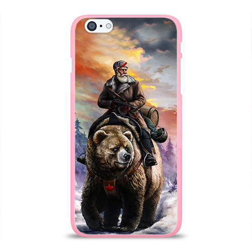 """Чехол силиконовый глянцевый для Apple iPhone 6 Plus """"Медведь"""" (3) - 1"""
