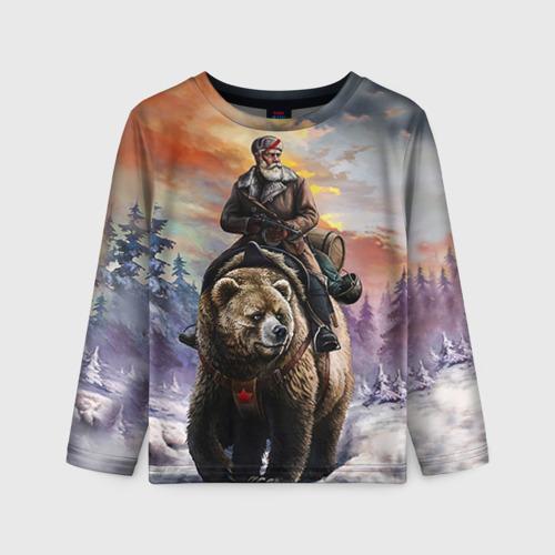 Детский лонгслив 3D Медведь