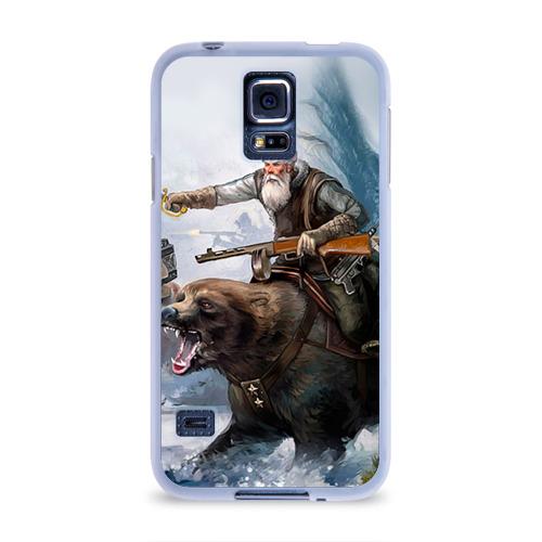 Чехол для Samsung Galaxy S5 силиконовый  Фото 01, Медведь