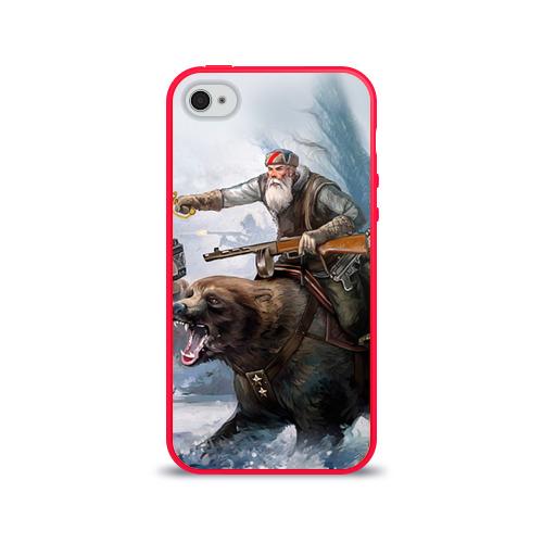 Чехол для Apple iPhone 4/4S силиконовый глянцевый  Фото 01, Медведь