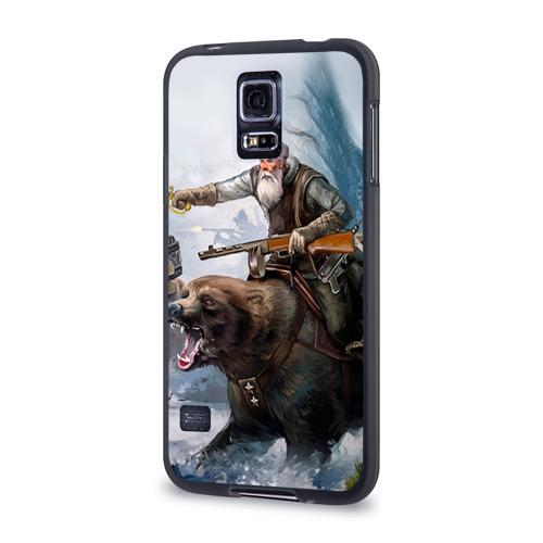 Чехол для Samsung Galaxy S5 силиконовый Медведь Фото 01