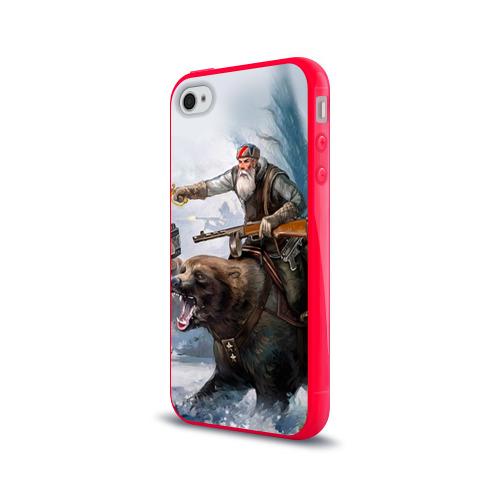 Чехол для Apple iPhone 4/4S силиконовый глянцевый  Фото 03, Медведь