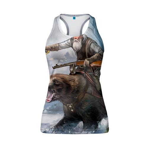 Женская майка 3D спортивная Медведь