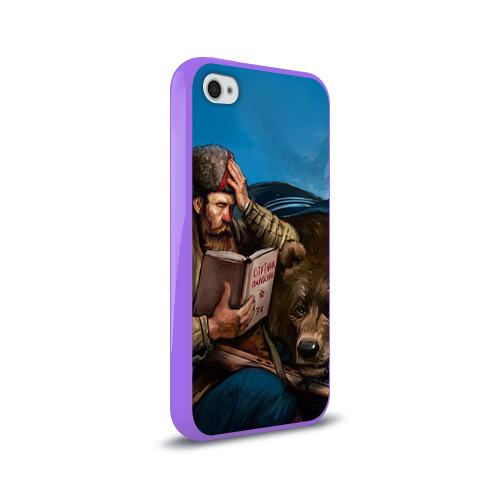 Чехол для Apple iPhone 4/4S силиконовый глянцевый  Фото 02, Медведь